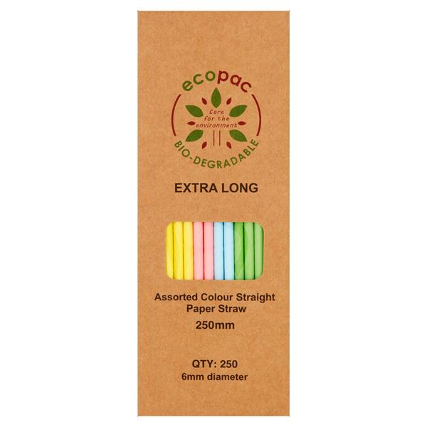 Biodegradable Paper Straws Pastel 25s